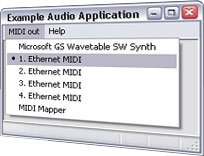ipMIDI - MIDI over Ethernet port
